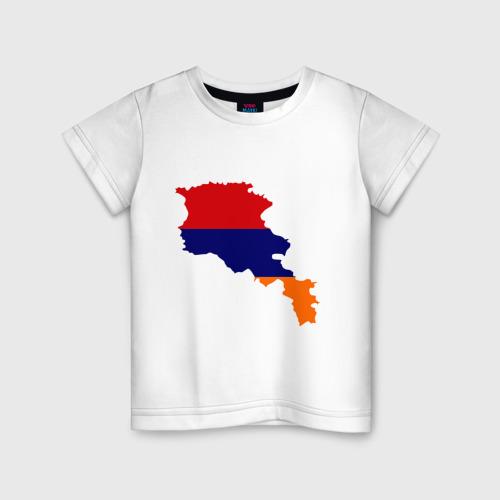 Детская футболка хлопок Armenia map