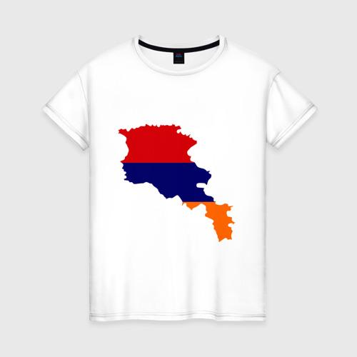 Женская футболка хлопок Armenia map