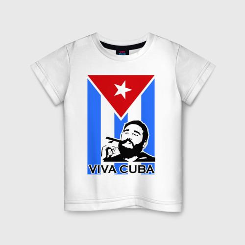 Детская футболка хлопок Viva, Cuba!