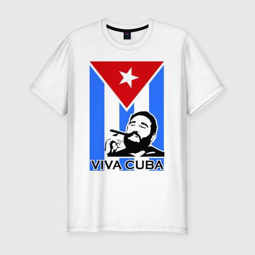 Мужская футболка хлопок Slim Viva, Cuba!