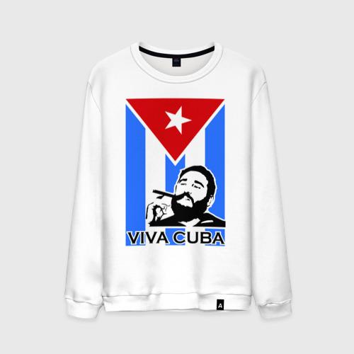 Мужской свитшот хлопок Viva, Cuba!