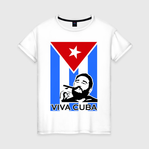 Женская футболка хлопок Viva, Cuba!