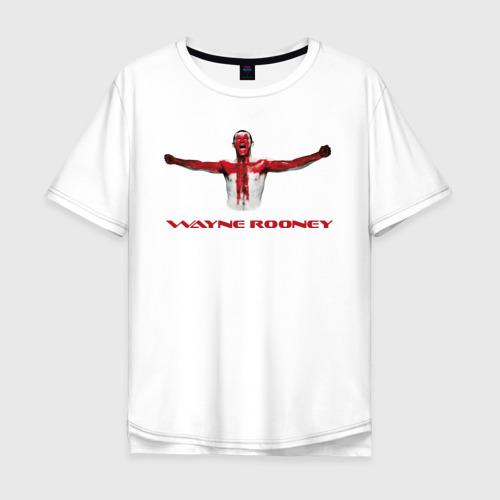 Мужская футболка хлопок Oversize Wayne Rooney