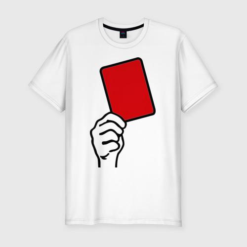 Мужская футболка хлопок Slim Красная карточка (2)