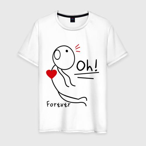 Мужская футболка хлопок Магнит для сердца (мужская)