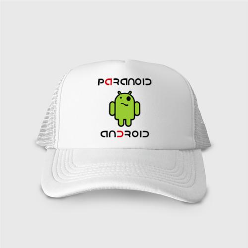 Кепка тракер с сеткой Paranoid android
