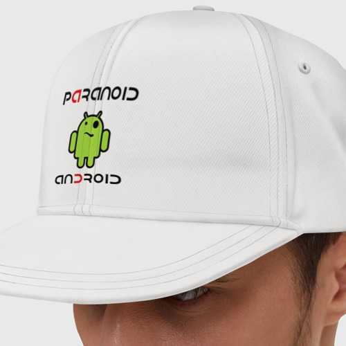 Кепка снепбек с прямым козырьком Paranoid android