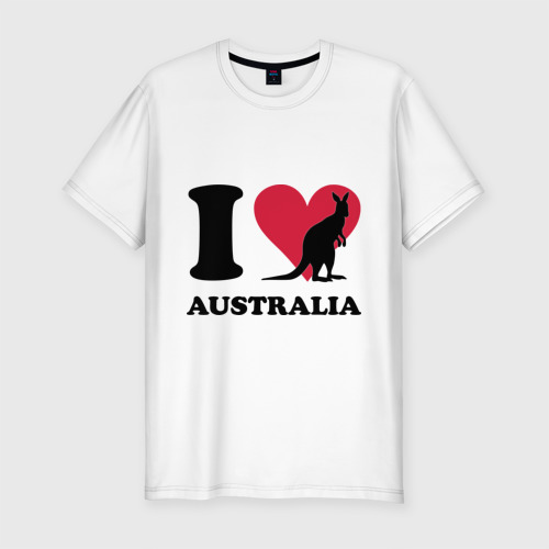 Мужская футболка хлопок Slim I love Australia