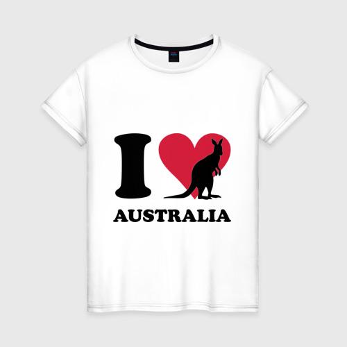 Женская футболка хлопок I love Australia