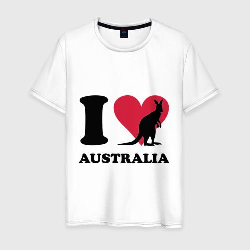 Мужская футболка хлопок I love Australia