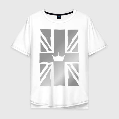 Мужская футболка хлопок Oversize Королевский флаг Великобритании