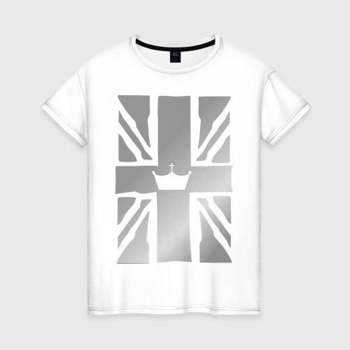 Женская футболка хлопок Королевский флаг Великобритании