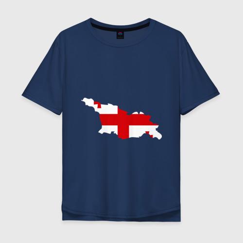 Мужская футболка хлопок Oversize Грузия (Georgia)