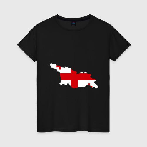 Женская футболка хлопок Грузия (Georgia)