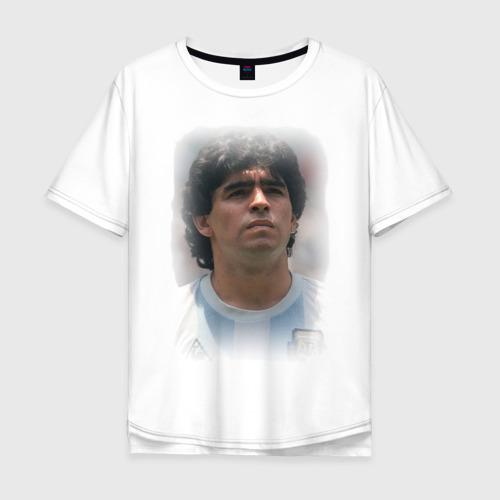 Мужская футболка хлопок Oversize Diego Maradona (2)
