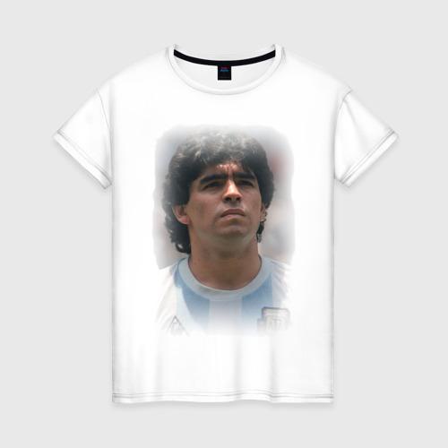 Женская футболка хлопок Diego Maradona (2)