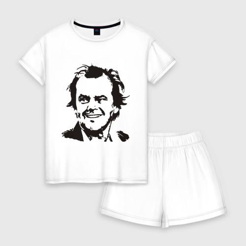 Женская пижама с шортиками хлопок Джек Николсон