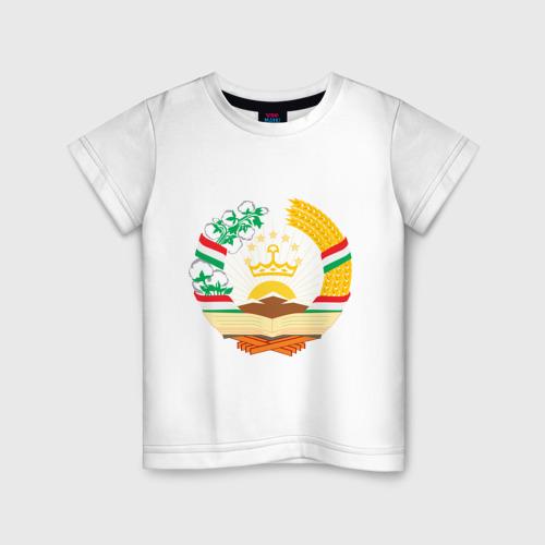 Детская футболка хлопок Таджикистан герб