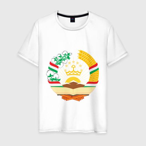Мужская футболка хлопок Таджикистан герб