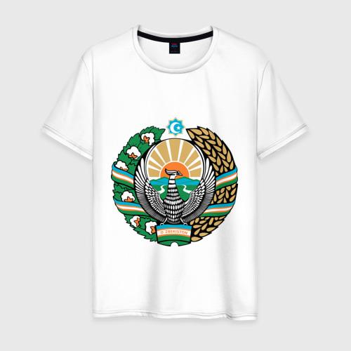 Мужская футболка хлопок Узбекистан герб