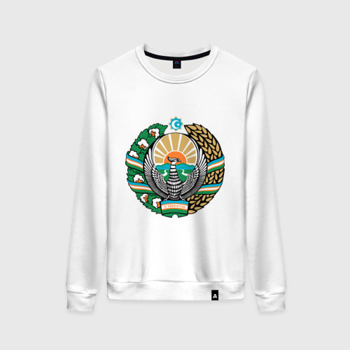 Женский свитшот хлопок Узбекистан герб