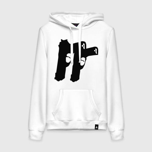 Женская толстовка хлопок Пистолеты