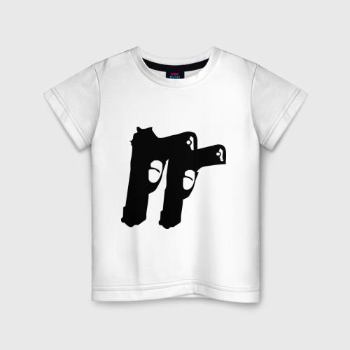 Детская футболка хлопок Пистолеты