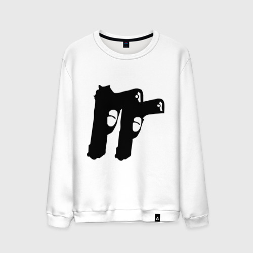 Мужской свитшот хлопок Пистолеты