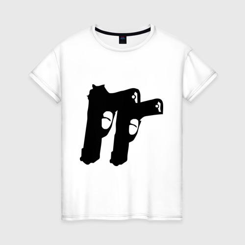Женская футболка хлопок Пистолеты