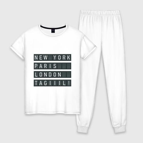 Женская пижама хлопок New York - Тагил