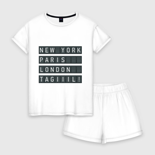 Женская пижама с шортиками хлопок New York - Тагил