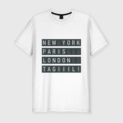 Мужская футболка хлопок Slim New York - Тагил