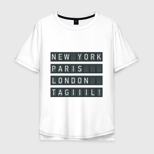Мужская футболка хлопок Oversize New York - Тагил