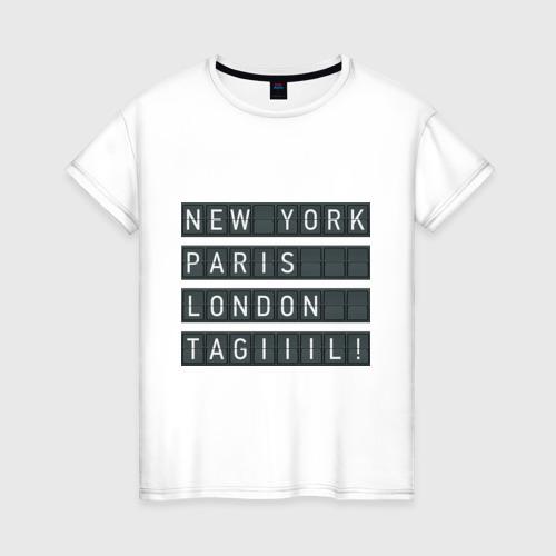 Женская футболка хлопок New York - Тагил