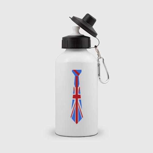 Бутылка спортивная Британский флаг на галстуке