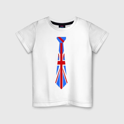 Детская футболка хлопок Британский флаг на галстуке