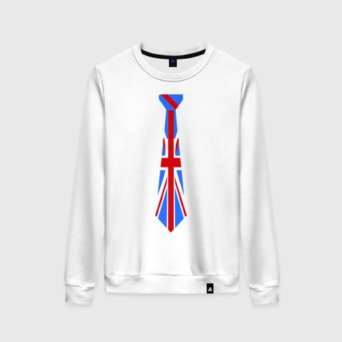 Женский свитшот хлопок Британский флаг на галстуке