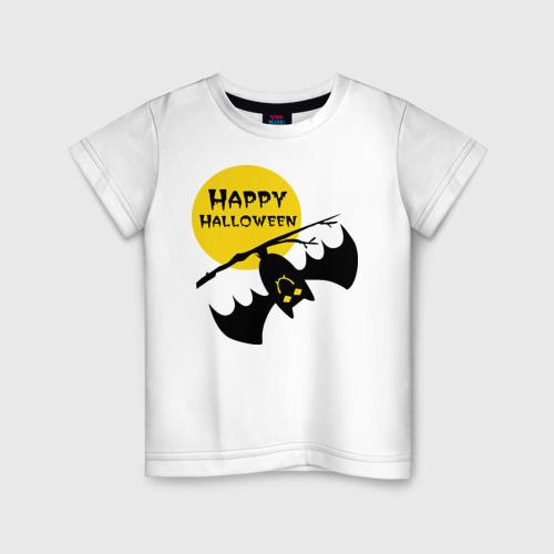Детская футболка хлопок Летучая мышь и луна