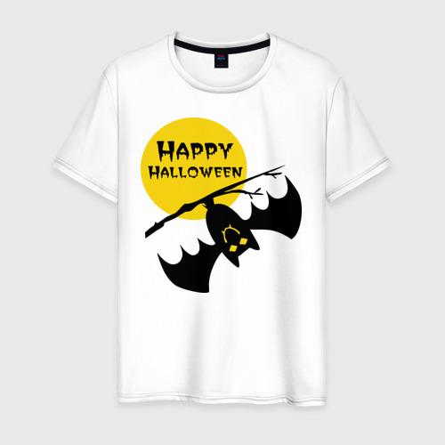 Мужская футболка хлопок Летучая мышь и луна