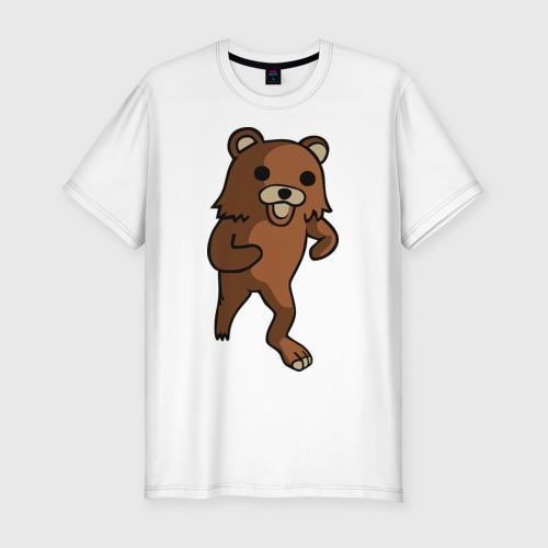 Мужская футболка хлопок Slim Педомедведь