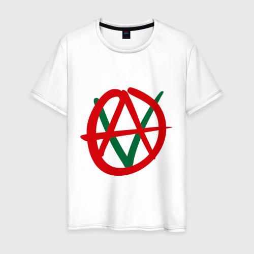 Мужская футболка хлопок Anarho-vegan