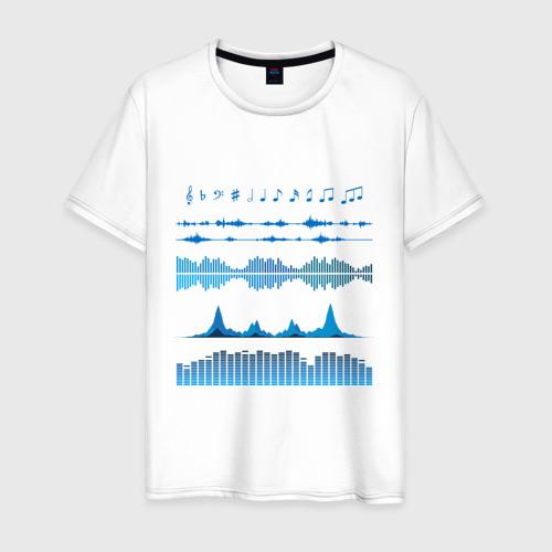 Мужская футболка хлопок Атрибуты звукоинженера (2)