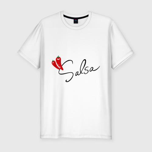 Мужская футболка хлопок Slim Сальса чили