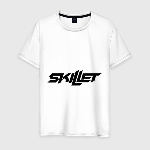 Мужская футболка хлопок Skillet logotip