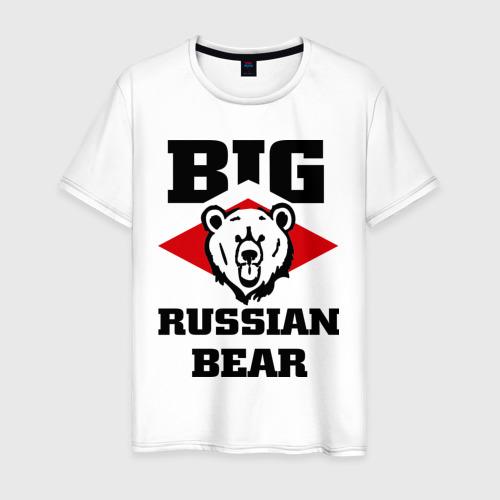 Мужская футболка хлопок Большой русский медведь