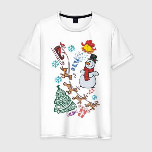 Мужская футболка хлопок Всё о Новом Годе