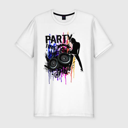 Мужская футболка хлопок Slim Party Time