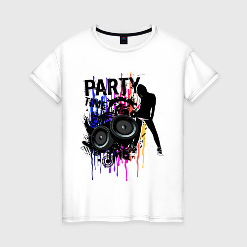 Женская футболка хлопок Party Time