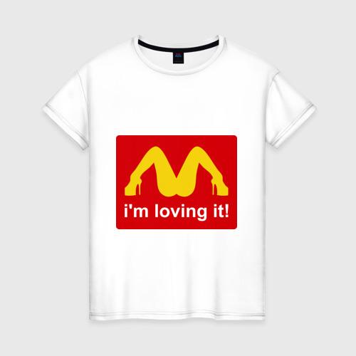 Женская футболка хлопок i\'m lovin\' it!