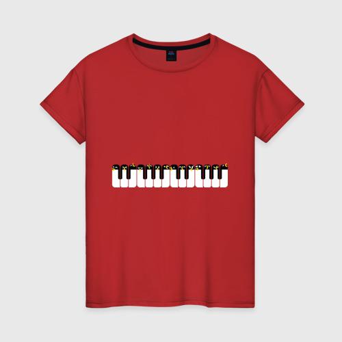 Женская футболка хлопок Хор пингвинов Антарктида